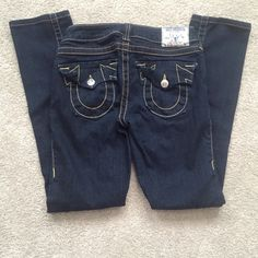 True Religion Boot Cut Jeans Like new, I'm not a fan of dark wash so I haven't really warn them much! I'll accept offers  True Religion Jeans Boot Cut