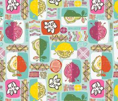 My latest design! Ready for a fruit-filled summer! :)  By - GRETA SONGE!!  Love this summer print!