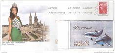 "ANNEE 2010 - ENVELOPPE PRET A POSTER avec ""MISS FRANCE 2010 - Malika Menard"" OBLITERE - Delcampe.fr"