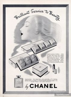 Chanel (Cosmetics) 1943 Face Powder Hand Soap Toilet Soap Lipstick N°5