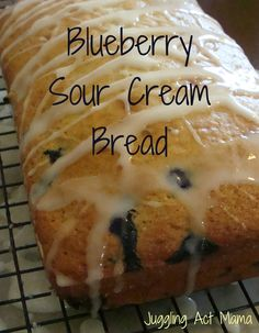 Blueberry Sour Cream Bread - Juggling Act
