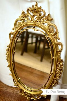 Painting a Vintage Mirror 2 - It's Overflowing