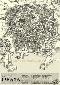 City of Draxa Map by Blackyinkin