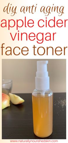 This DIY face toner uses the power of apple cider vinegar to restore and repair your skin! #diyfacetoner #diyapplecidervinegartoner #diyskincare