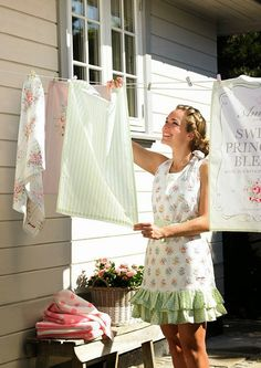 Aprons+and+tea+towels+from+Greengate New Products and Patterns from Greengate DK