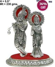 http://go4max.com/130919062-White-Metal-Radha-Kishan/display.html  White Metal Radha Kishan >> for Rs. 282 at Craffts