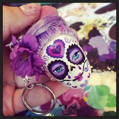 Custom made sugar skull from StaroseCreations on etsy!