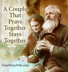 A couple that prays together, stays together