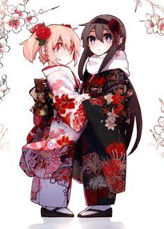 Puella Magi Madoka Magica - Madoka and Homura