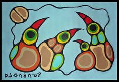 Birds of Norval Morrisseau (Part V) Arte Inuit, Inuit Art, Native American Artists, Canadian Artists, Native Canadian, Woodland Art, Arte Tribal, Indigenous Art, Aboriginal Art