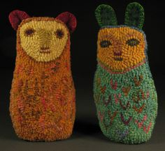 rug hooked creatures