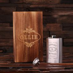 Personalized Stainless Steel Flask – 8 oz. w/Box
