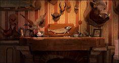 Artist: Rémi Salmon Bg Design, Prop Design, Environment Concept, Environment Design, Animation Background, Art Background, Matte Painting, Light Painting, Layout Inspiration