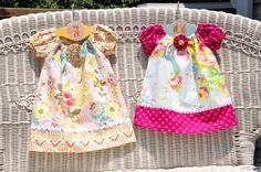Clover and Violet: Some catching up and little girl dresses!