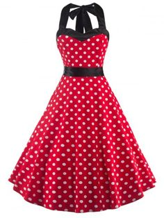 GET $50 NOW | Join RoseGal: Get YOUR $50 NOW!http://www.rosegal.com/vintage-dresses/vintage-open-back-polka-dot-643216.html?seid=6318305rg643216