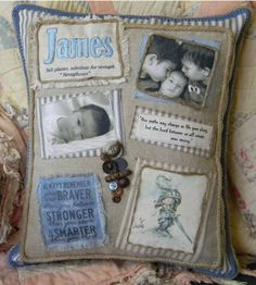 Baby boy and brothers custom photo memory by DawnsGardenGate, $50.00