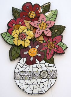 Mixed Bunch by Angela Ibbs Mosaics at BreezyB5, via Flickr