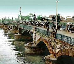 Puente de España (Bridge of Spain) Manila ca. The bridge was dismantled during the after suffering extensive flood damage. Filipino Words, Bridge, Intramuros, Visayas, Flood Damage, Mindanao, Manila, Philippines, Beautiful Places