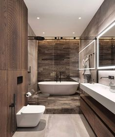 Best 27 2019 Home Decor Trends Kitchen Find loads of inspiraton from the 2019 home design trends and ideas we're seeing in home exteriors, interio… Minimalist Bathroom Design, Bathroom Design Luxury, Modern Bathroom Design, Interior Design Examples, Best Interior Design, Interior Design Inspiration, Design Ideas, Ideas Baños, Room Ideas