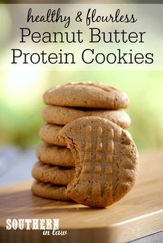 Flourless Peanut Butter Protein Cookies Recipe low fat, gluten free ...