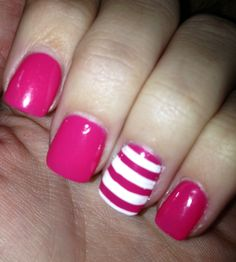 Pink stripes- SOLAR NAILS arcadia, ca