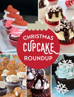 15 Festive Christmas Cupcakes are the perfect recipes for a sweeter holiday season. Best Dessert Recipes, Cupcake Recipes, Fun Desserts, Delicious Desserts, Cupcake Cakes, Top Recipes, Breakfast Recipes, Christmas Tree Cupcakes, Deserts