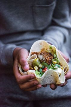 intensefoodcravings:  Loaded Fish Tacos With Ceviche Salsa And Roast Corn | Cook Republic