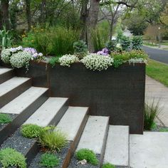 Landscape stained concrete wall Design Ideas, Pictures, Remodel and Decor