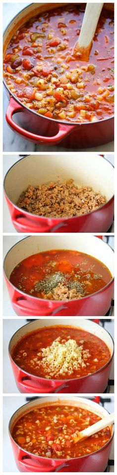 Olive Garden Pasta e Fagioli ~ This Italian pasta version is seriously delicious.