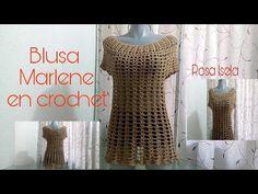 Beautiful Marlene Blouse Tutorial - ilove-crochet