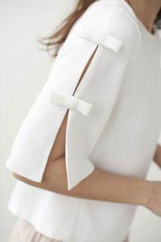 40 Latest Sleeve Designs to Try With Kurtis Kurti Sleeves Design, Sleeves Designs For Dresses, Sleeve Designs, Blouse Designs, Cut Up Shirts, Bow Shirts, Shirt Blouses, Diy Clothes, Clothes For Women