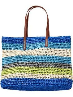Discover thousands of images about Women's Multi-Stripe Straw Totes Product Image Crochet Handbags, Crochet Purses, Hello Kitty Crochet, Crochet Shoulder Bags, Macrame Bag, Handmade Handbags, Straw Tote, Old Navy, Clutch