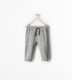 BEAR PRINT TROUSERS WITH POCKET-Trousers-Baby boy (3 months - 3 years)-KIDS | ZARA United States