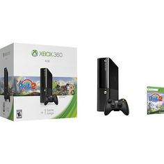 Microsoft - Xbox 360 4GB Console Peggle 2 Bundle - Black - Larger Front