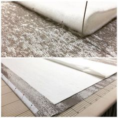 Working with a tricky, unstable fabric for a roman blind today - we use a…