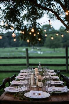 rustic dinner party