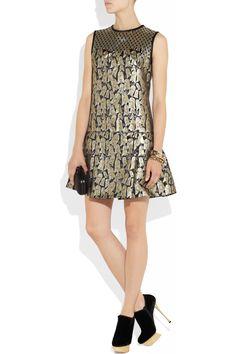 Victoria, Victoria BeckhamDropped-waist jacquard dress