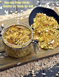 Oats and Poha Chivda recipe, Oats Chivda Snack Recipes, Cooking Recipes, Fast Recipes, Healthy Recipes, Cooking Food, Smoothie Recipes, Vegetarian Recipes, Healthy Food, Healthy Eating