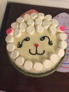Marshmallow Sheep Cake