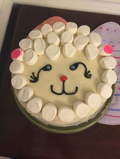 Marshmallow Sheep Cake