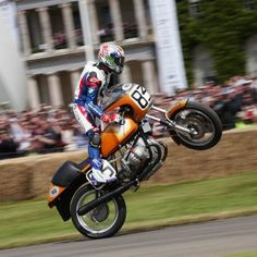 1974 BMW R90S up on one.  Troy Corser - Yeee Hahhh !