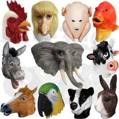 Latex Fancy Animals Head Party Props Cosplay Masquerdae Carnival Costume Masks