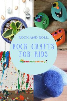 With these Rock and Roll 22 Rock Crafts for Kids you'll find some awesome stone painting designs your kids will love to paint! Camping Crafts For Kids, Summer Crafts For Kids, Summer Activities For Kids, Summer Fun, Kid Activities, Stone Crafts, Rock Crafts, Diy Crafts, Pet Rocks Craft