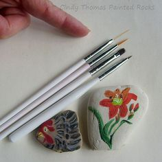 Painting Rock & Stone Animals, Nativity Sets & More: Nail Art Brushes - A Great Set of Tools for Painting Details on Rocks