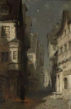 First Born BlutDer Nachtwächter - by Karl Martin August Splitgerber (German, 1844 - Renaissance Kunst, Bel Art, Classic Paintings, Classical Art, Pretty Art, Aesthetic Art, Oeuvre D'art, Art History, Art Inspo