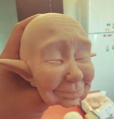 Polymer Clay Sculptures, Sculpture Clay, Doll Making Tutorials, Mushroom Art, Fairy Art, Green Man, Felt Dolls, Cute Crafts, Clay Creations