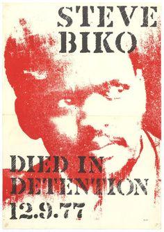 STEVE BIKO : DIED IN DETENTION: 12.9.77 - Google Arts & Culture African History, African Art, Steve Biko, World Icon, Bible Scriptures, Art Google, Black History, Inspire Me, South Africa