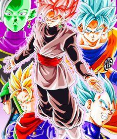 """The Black Goku Saga"". Drawn by: Young Jijii Dbz, Dragon Ball Z, Black Goku, Marvel Entertainment, Son Goku, Fantastic Art, Anime Comics, Illustrations Posters, Chibi"