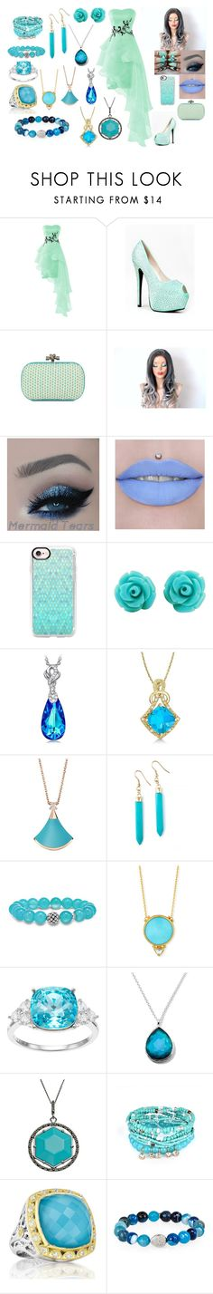 """""""Light Blue Green"""" by daddysgielforeveralways ❤ liked on Polyvore featuring Red Kiss, Jeffree Star, Casetify, Allurez, Bulgari, Lagos, Gurhan, Brilliance, Ippolita and Tori Hill"""