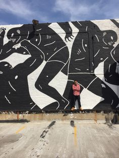 Posing with Cleon Peterson